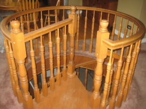 solid oak spiral staircase