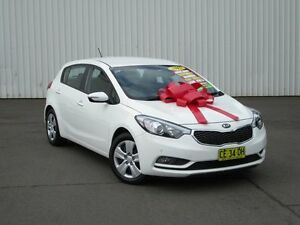 2015 Kia Cerato YD MY15 S White 6 Speed Sports Automatic Hatchback Kings Park Blacktown Area Preview