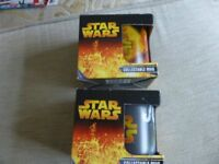 SET OF 2 STAR WARS ORIGINAL 2005 CERAMIC MUGS