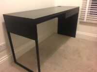 Office Desk and Storage Unit Black IKEA great condition
