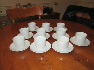 BRAND NEW WHITE ATHENA MADE IN ENGLAND IRONSTONE CUPS & SAUCERS London Ontario image 2