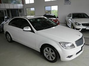 2008 Mercedes-Benz C200 Kompressor W204 Classic White 5 Speed Sports Automatic Sedan Albion Brisbane North East Preview