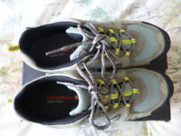 "LADIES WALKING SHOES, ""MERRELL AZURA GRANITE"", SIZE 7"