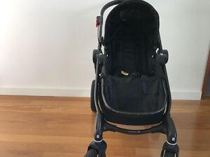 Late 2016 Baby Jogger City Select Pram Black frame + Double Seat Mosman Park Cottesloe Area Preview