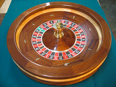 27 Inch Solid Mahogany Roulette Wheel Made in USA by ACEM CASINO SUPPLIES