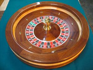 Roulette wheel 18 inch mahogany