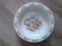 2 Royal doulton baby plates