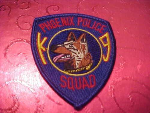 PHOENIX ARIZONA K-9 DOG SQUAD POLICE PATCH  UNUSED 3 1/4 X 2 3/4 INCH