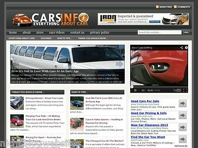 Turnkey Autos Car Wordpress Blog Site For Sale