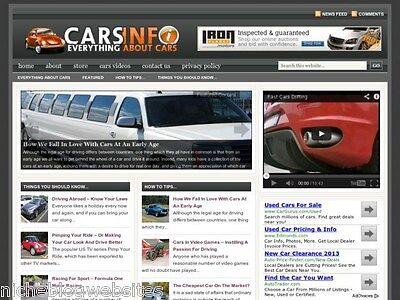 Turnkey Autos / Car Wordpress Blog Site For Sale!
