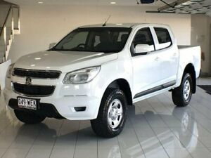 2015 Holden Colorado RG MY15 LS Crew Cab 4x2 White 6 Speed Sports Automatic Cab Chassis Ashmore Gold Coast City Preview