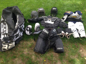 Hockey pads/equipment with bag