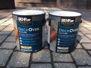 2 Gallons DECK OVER paint by Behr – Padre Brown SC-105