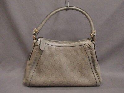 Auth GUCCI Scarlett/Guccissima 282298 Gray Leather Handbag