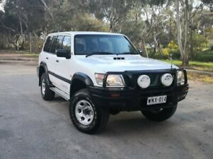 2001 Nissan Patrol GU III MY2002 DX White 5 Speed Manual Wagon Mile End South West Torrens Area Preview