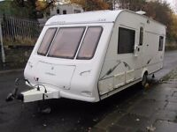 Compass Omega Fixed Bed Four Berth Touring Caravan