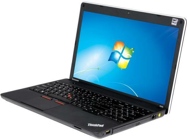 "Laptop Windows - Lenovo Laptop E545 15.6"" HD AMD A6 8GB 512GB SSD Webcam Wifi Windows 10 Pro PC"