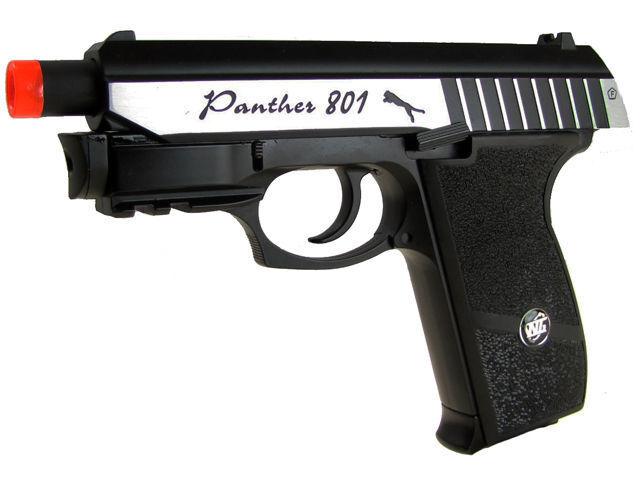 WG Panther Full Metal CO2 Blowback Pistol With Attached Laser