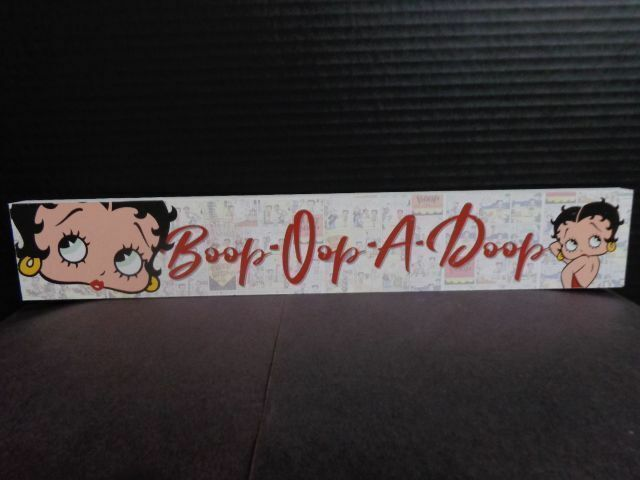 BETTY BOOP WOOD SIGN (NEW ITEM)