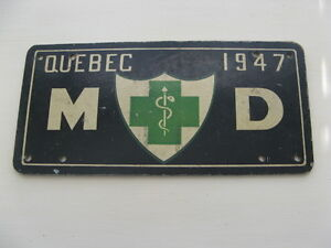 PHOTO PLAQUE IMMATRICULATION MÉDECIN (MD)