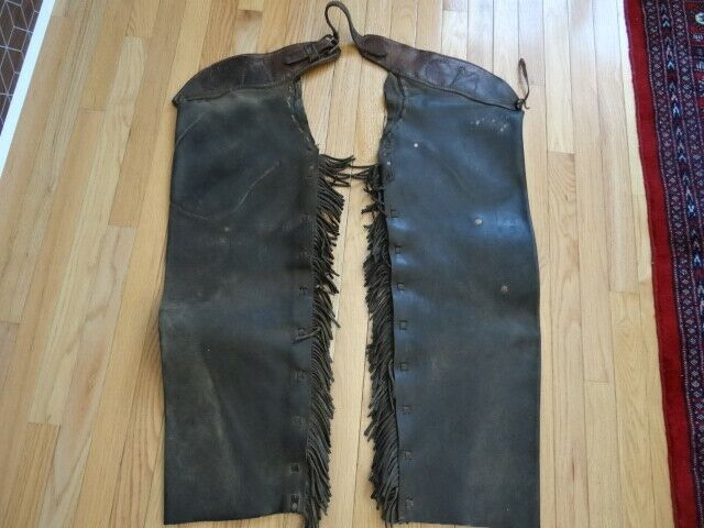 Very Fine Antique Western 19th Century Cowboy Western Leather Chaps