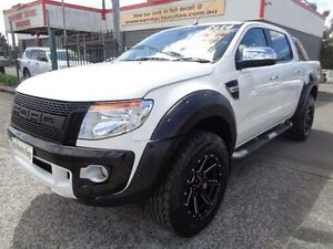 2014 Ford Ranger PX XLT 3.2 (4x4) White 6 Speed Manual Dual Cab Utility Sandgate Newcastle Area Preview
