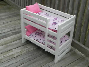 "Custom Doll Bunk Beds, Farmhouse Beds and Wardrobes for 18"" Doll"