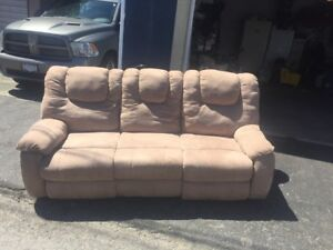 Sofa with reclining seat