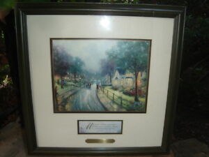 JUST REDUCED - THOMAS KINKADE  - HOMETOWN MEMORIES  -  $139.99