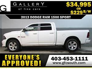 2013 DODGE RAM SPORT CREW **EVERYONE APPROVED** $0 DOWN $229/BW!