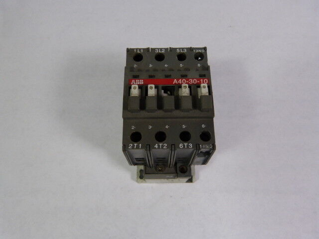 Asea Brown Boveri A40-30-10-84 Contactor 41Amp 3Pole 110/120V Coil  USED