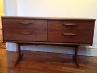 retro vintage g plan chest of drawers