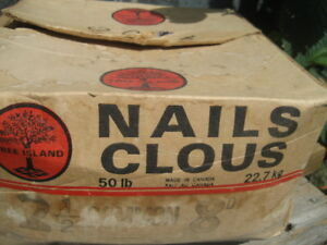 nails, 2-1/2 inch, 8D, approx 50 lbs/ 22.7 kg, made in Canada. $