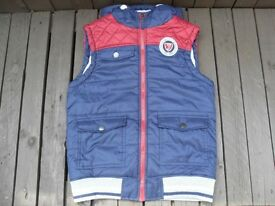 Boys Hooded Sporty Gilet / Body Warmer, Age 10 - 11 Years