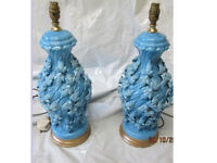 Antique porcelain lamps x2 cost over £1,000 35 years ago bargain £100