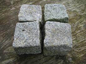 Granite Cobble Setts, Approx. 4 x 4 inch rough cut cube