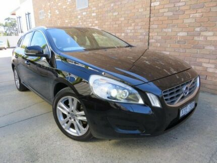 2011 Volvo V60 F T5 Ember Black 6 Speed Automatic Wagon Seaford Frankston Area Preview