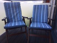 Outdoor reclining chairs