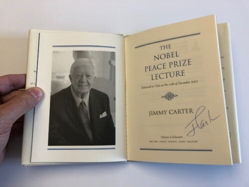 Signed Jimmy Carter Book The Noble Peace Prize Lecture