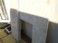 Free marble fire surround and grate