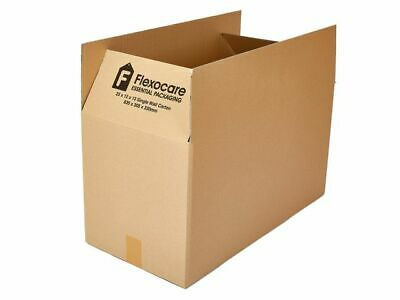 20 x FLEXOCARE Single Wall Carton cardboard Boxes, 635 x 305 x 330 mm - Free 24h