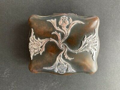 letter Stamped Sterling FAR Mexico 925 silver Christmas mail Vintage two-tone sterling silver handmade brooch