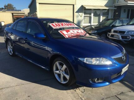 2003 Mazda 6 GG1031 Luxury Sports Dark Blue 5 Speed Manual Hatchback Ascot Park Marion Area Preview