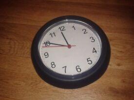 Small blue plastic wall clock