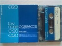 A2Z LATEST RARE ADDITIONS. WH SMITH LOW NOISE C120 CASSETTE TAPES BLUE LIVERY ISSUE. ITALY 1978-1980