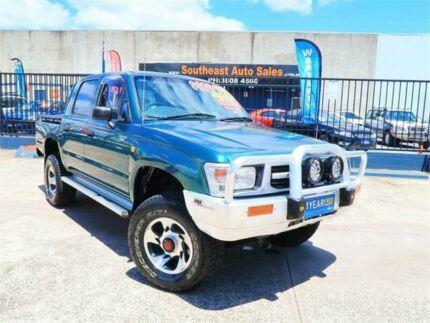 1998 Toyota Hilux LN167R Green 5 Speed Manual Utility Woodridge Logan Area Preview