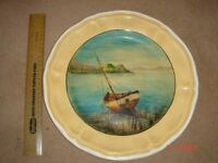Painted Plate of Sailing Boat - £? Offers