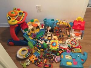 A big lot of first year baby toys. AVAILABLE