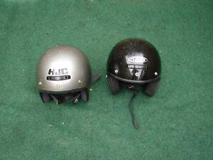 2 x motorcycle helmets