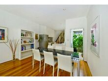 Glass Top Table and Cream-White Leather Chairs Paddington Eastern Suburbs Preview